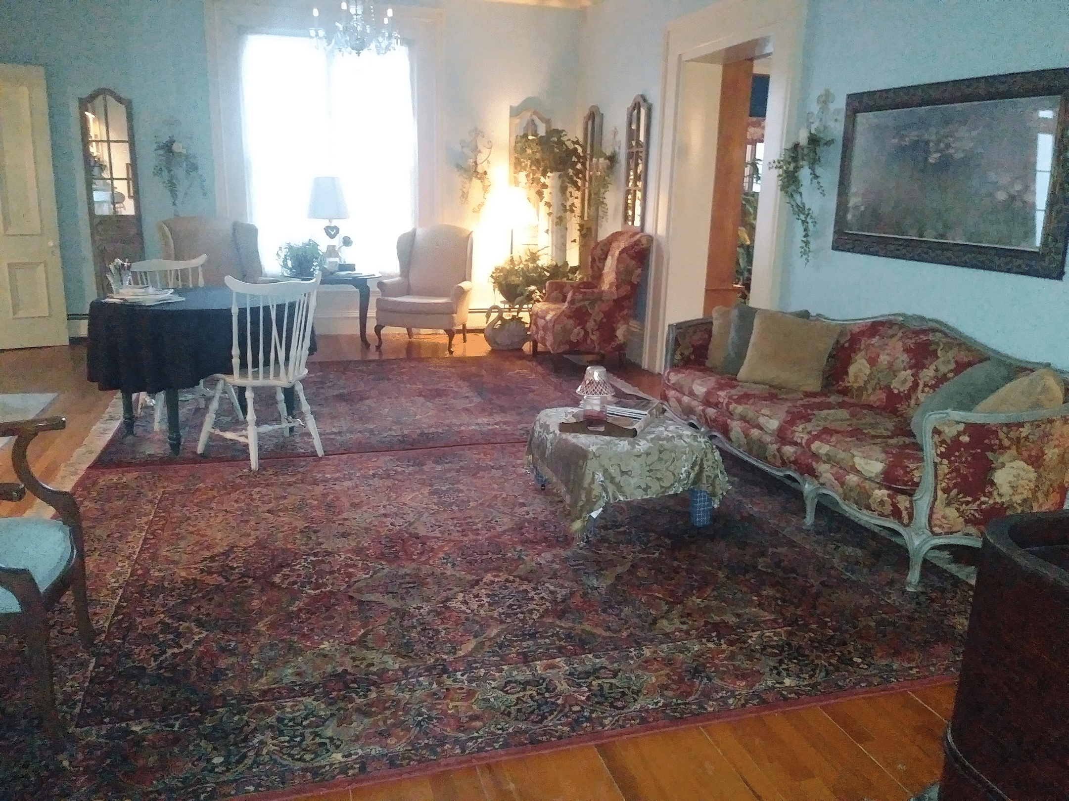 Carpeting comparison. Parlor looking east 2019