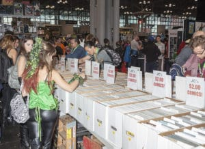 Comic books vendor on convention floor during Kansas City Comic Con